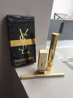 Ysl Yves Saint Laurent Set Lipstick Mascara Eyeliner Pen