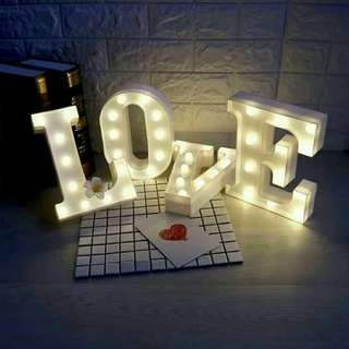 LOVE led letters