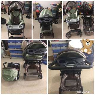 Chicco carseat and stroller used
