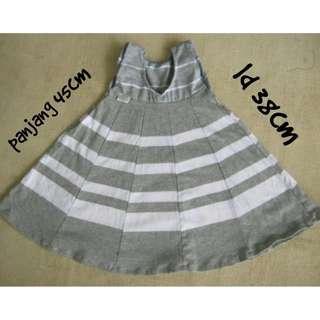 dress anak motif salur tanpa lengan, pakaian bayi balita perempuan cewek murah, grosir baju stripe