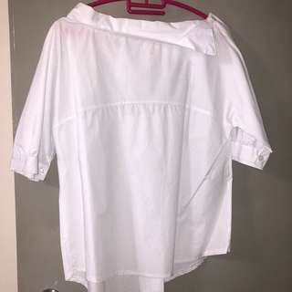 Boat Neck Blouse Top