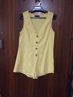 Yellow playsuit - princess polly