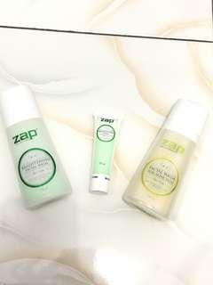 Zap facial wash