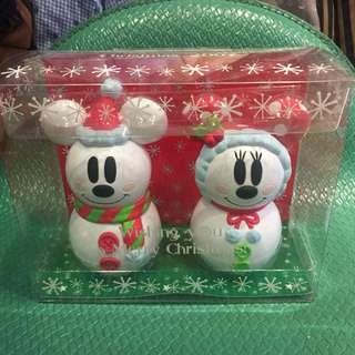 日本帶回米奇米妮雪人糖果罐