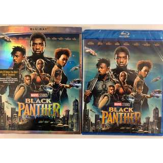 NEW SEALED MARVEL BLACK PANTHER BLU RAY + SLIPCOVER SLEEVE
