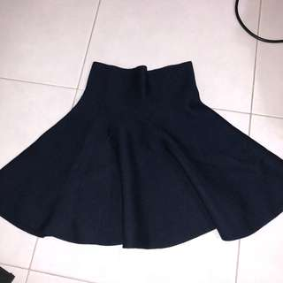 Dark Blue Knitted Skirt