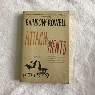 Attachments by Rainbow Rowell (Paperback covered with plastic)