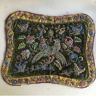 Peranakan beadwork foot stool