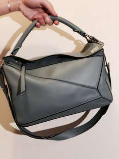 Loewe Puzzle Bag ~ Blue-Grey Color - Small