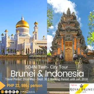 5D4N Twin-City : Brunei & Indonesia