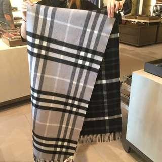 Burberry 頸巾scarf 大頸巾 厚身