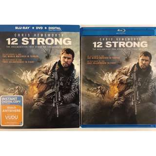 12 STRONG BLU RAY DVD 2 DISC SET + SLIPCOVER SLEEVE
