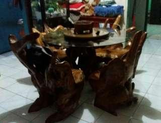 kayu jati..meja..kursi dan lainnya lelang