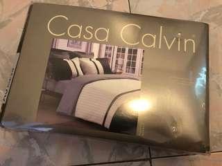 casa calvin 卡撒天嬌 queen size 床單連枕袋