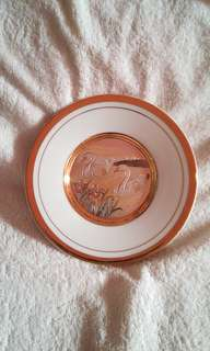 Vintage The Art Of Chokin 24kt Gold Decorative Plate - Swans