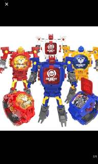 Instock robot kids toy watch can transform to transformer brand new while stock last !! 4colors Available