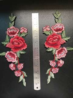 Embroidery patches ( 1 pair )