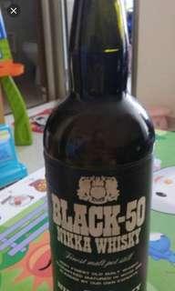 70年代,余市NIKKA酒廠出品,Black50 威士忌720ml,no box.