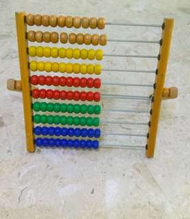huge toy abacus with stand