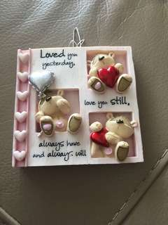 Little hanging teddy bear ornament