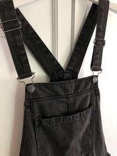 Topshop 黑色 牛仔 吊帶 連身褲 black denim overall