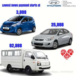Hyundai's Lowest Downpayment Promo!!!
