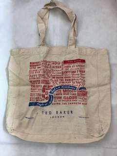 Ted Baker London printed tote bag 英國品牌 布袋 #mayflashsale