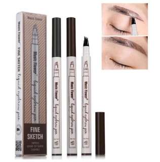 Forktip Eyebrow pen - waterproof for 2 pcs