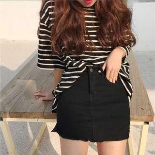 黑色牛仔褲裙