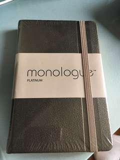 BNIP Monologue Platinum Gold A6 Notebook Ruled
