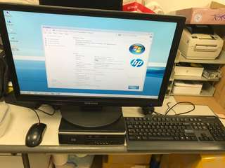 HP 6005 Pro with Samsung 24 inch LCD monitor