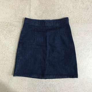 asos denim a-line skirt