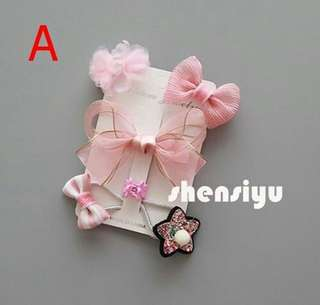 4 pcs Hair Clip Gift Set for Kids Baby Girls