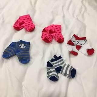 Cute baby socks newborn infant colourful