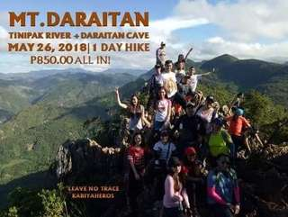 Mt. Daraitan May 26