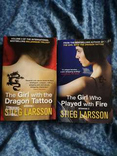 The Girl with the Dragon Tattoo & The Girl Who Played with Fire by Stieg Larsson