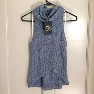 BNWT Cowl Neck Crossover Front Top