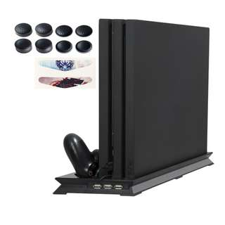 PS4 PRO Slim and controller Charging Stand with Cooler for Playstation
