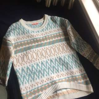 Oversized Patterned Jumper (Size 10)