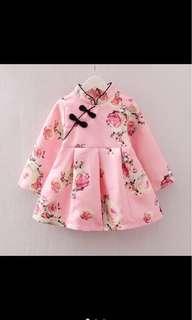 🚚 小旗袍/洋裝99成新-尺寸:100cm
