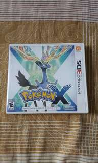 Pokemon X Nintendo 3DS with Xerneas sticker
