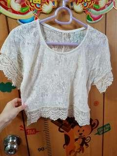 lace top 短身衫