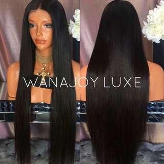 "28"" Straight Human Hair Wig"