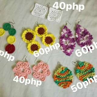 Crochet Earrings! 😊 (Boho, Sunflower)