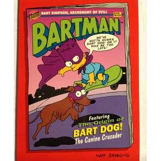 1994 Skybox Simpsons Series 2 - Base Card #B4 - Origin of Bart Dog