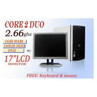 "Computer Package (Core 2 UDo2.66 with 17""LCd Monitor)"