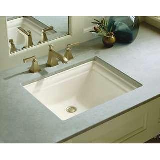 {美國名牌}KOHLER Memoirs 洗手間長方形檯底面盆 洗手盆 廁所 sink 100%新 有盒 北歐