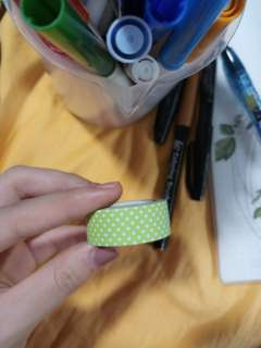 Green Dotted Washi Tape