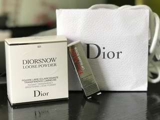 Diorsnow Loose Powder & Lip Sugar Scrub Set