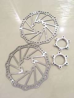 2 X Freewheel Threaded Hubs Rotors 160mm